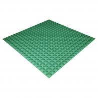 Панель из акустического поролона Ecosound Pyramid Color толщиной 15 мм, размером 100х100 см, зеленого цвета