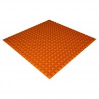 Панель из акустического поролона Ecosound Pyramid Color толщиной 15 мм, размером 100х100 см, оранжевого цвета