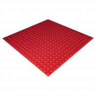 Панель из акустического поролона Ecosound Pyramid Color толщиной 20 мм, размером 100х100 см, красного цвета