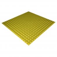 Панель из акустического поролона Ecosound Pyramid Color толщиной 15 мм, размером 100х100 см, желтого цвета