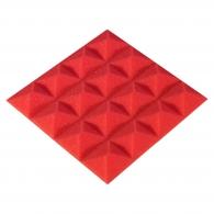 Панель из акустического поролона Ecosound Pyramid Color толщиной 15 мм, размером 20x20 см, красного цвета