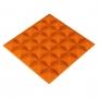Панель из акустического поролона Ecosound Pyramid Color толщиной 20 мм, размером 25x25 см, оранжевого цвета