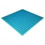 Панель из акустического поролона Ecosound Pyramid Color толщиной 25 мм, размером 100х100 см, синего цвета
