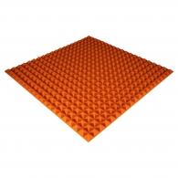 Панель из акустического поролона Ecosound Pyramid Color толщиной 25 мм, размером 100х100 см, оранжевого цвета