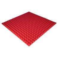 Панель из акустического поролона Ecosound Pyramid Color толщиной 25 мм, размером 100х100 см, красного цвета