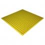 Панель из акустического поролона Ecosound Pyramid Color толщиной 25 мм, размером 100х100 см, желтого цвета