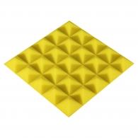 Панель из акустического поролона Ecosound Pyramid Color толщиной 25 мм, размером 25x25 см, желтого цвета