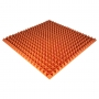 Панель из акустического поролона Ecosound Pyramid Color толщиной 50 мм, размером 100х100 см, оранжевого цвета