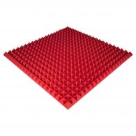 Панель из акустического поролона Ecosound Pyramid Color толщиной 50 мм, размером 100х100 см, красного цвета