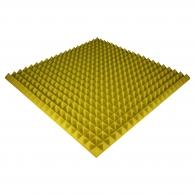 Панель из акустического поролона Ecosound Pyramid Color толщиной 50 мм, размером 100х100 см, желтого цвета