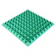 Панель из акустического поролона Ecosound Pyramid Color толщиной 50 мм, размером 50х50 см, зеленого цвета