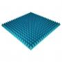 Панель из акустического поролона Ecosound Pyramid Color толщиной 70 мм, размером 100х100 см, синего цвета