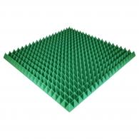 Панель из акустического поролона Ecosound Pyramid Color толщиной 70 мм, размером 100х100 см, зеленого цвета