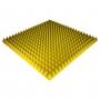 Панель из акустического поролона Ecosound Pyramid Color толщиной 70 мм, размером 100х100 см, желтого цвета