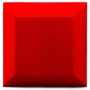 Купить бархатная акустическая панель из акустического поролона ecosound velvet red 25х25см 50мм. цвет красный по низкой цене