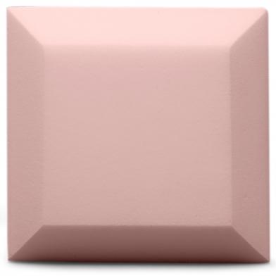 Купить оксамитова акустична панель з акустичного поролону ecosound velvet rose 25х25см 50мм. колір світло-рожевий  по низкой цене
