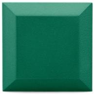 Бархатная акустическая панель из акустического поролона Ecosound Velvet Kelly green 25х25см 50мм. Цвет темно-зеленый