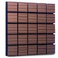 Акустическая панель Ecosound Tetras Wood Venge Contrast 50x50см 33мм цвет коричневый в полоску