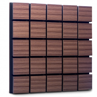 Купить акустическая панель ecosound tetras wood venge contrast 50x50см 53мм цвет коричневый в полоску по низкой цене