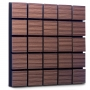 Купить акустическая панель ecosound tetras wood venge contrast 50x50см 73мм цвет коричневый в полоску по низкой цене