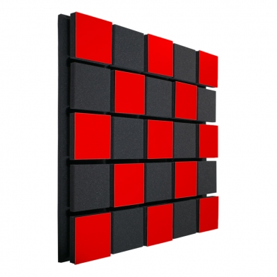 Купить акустическая панель ecosound tetras acoustic wood red 50x50см 73мм цвет красный по низкой цене