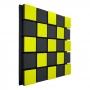 Купить акустическая панель ecosound tetras acoustic wood yellow 50x50см 73мм цвет жёлтый по низкой цене